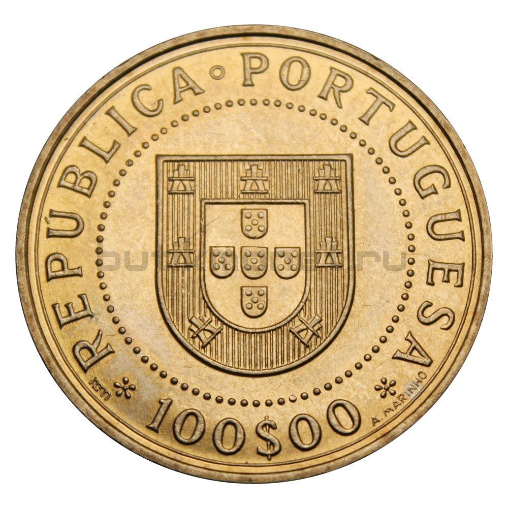 100 эскудо Португалия 1990 350 лет со дня восстановления португальской независимости