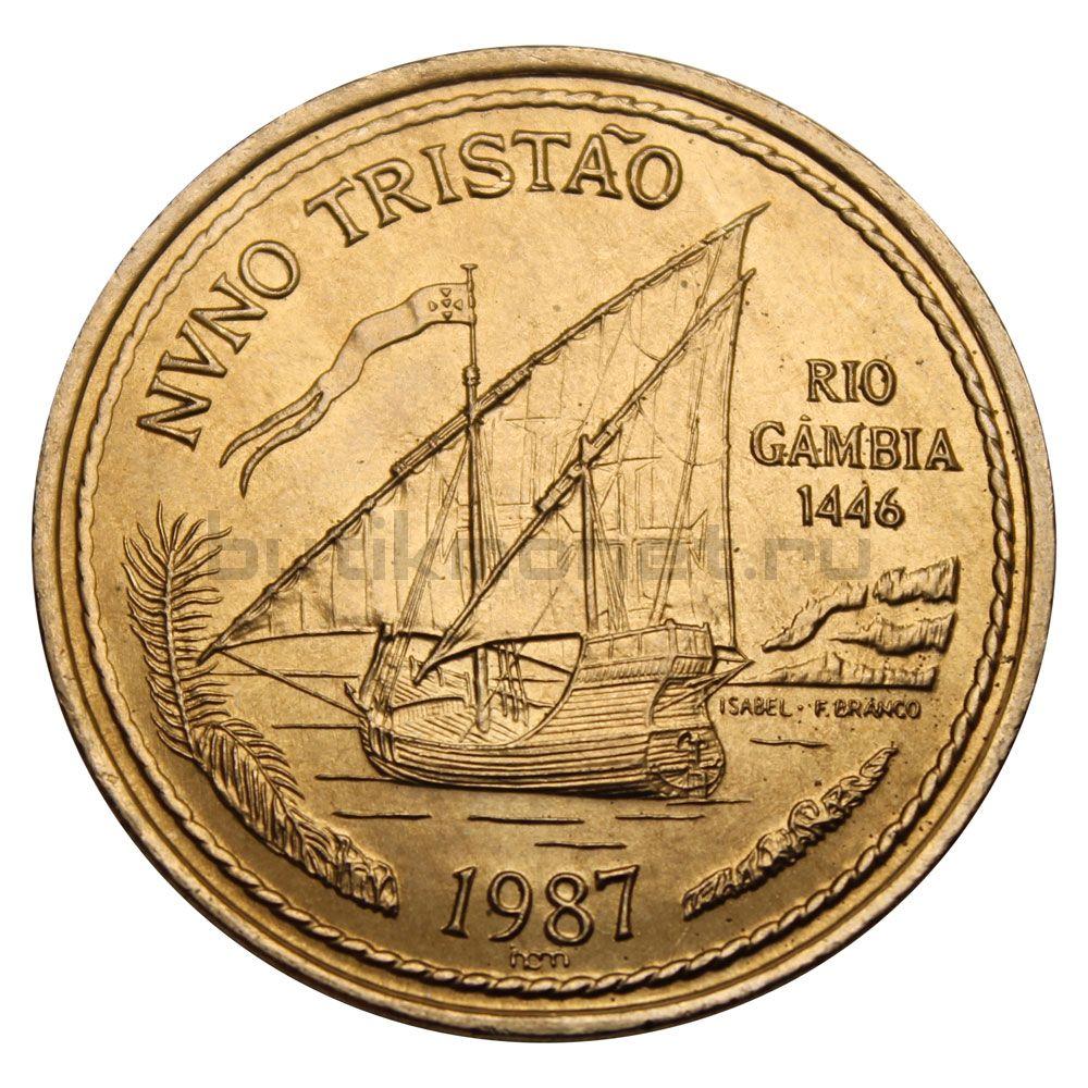 100 эскудо 1987 Португалия Нуну Триштан (Золотой век открытий)