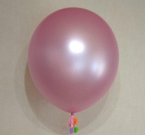 Розовый перламутровый большой шар латексный с гелием