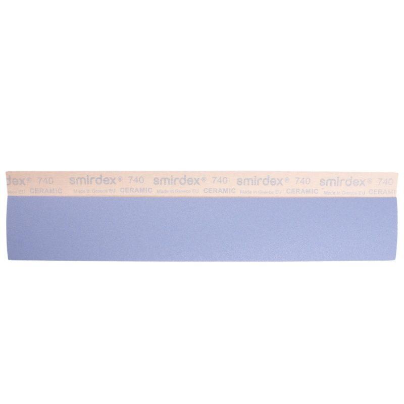 Smirdex P60 Абразивные полоски Ceramic Velcro, без отверстий, 70мм. х 420мм., (упаковка 50 шт.)