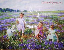 Картина по номерам Дети в поле W1762