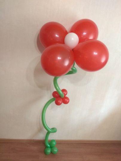 Большой цветок с гелием