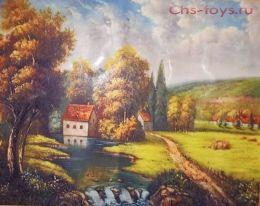 Картина по номерам Пейзаж деревни W1726