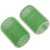 DEWAL Бигуди-липучки, зеленые d 61 мм, 6 шт/уп, R-VTR16