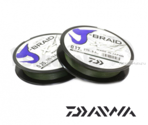 Шнур плетеный Daiwa J-Braid PE X8 150м /цвет: Multicolor