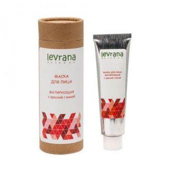 Леврана - Маска для лица с красной глиной, матирующая, 50мл