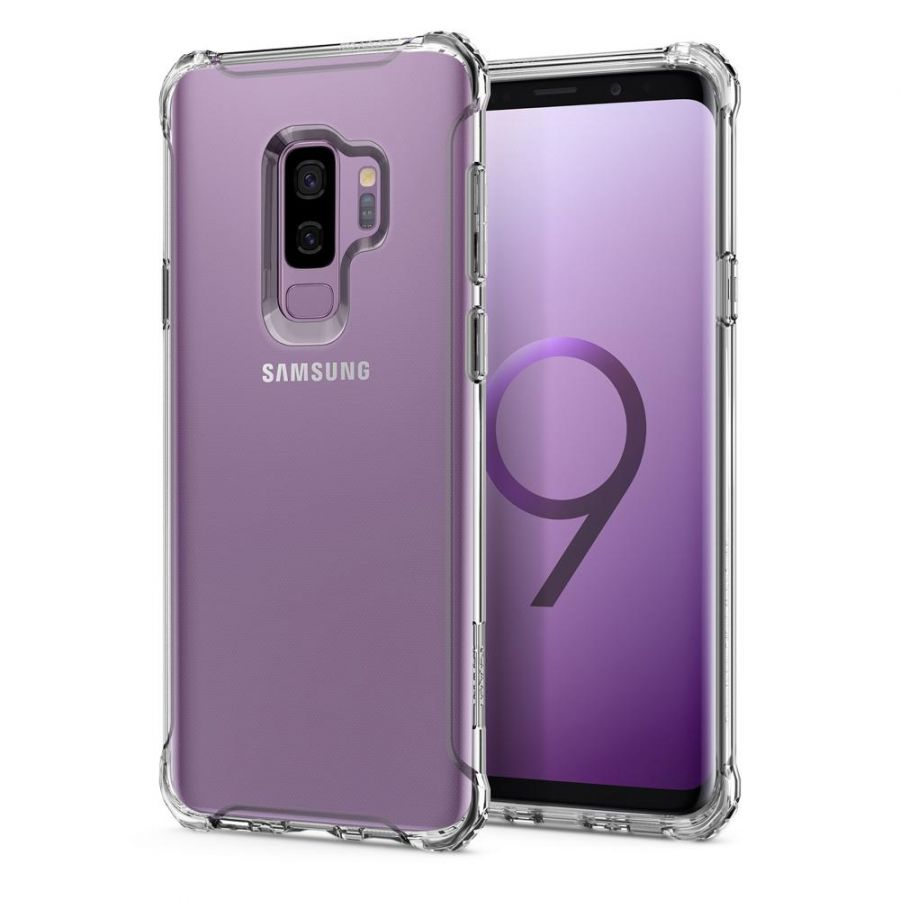 Чехол Spigen Rugged Crystal для Samsung S9 Plus прозрачный