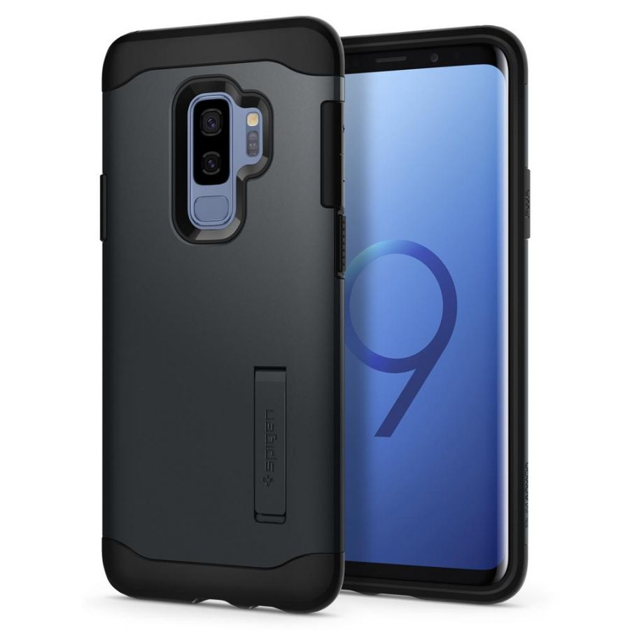 Чехол Spigen Slim Armor для Samsung Galaxy S9 Plus синий металлик