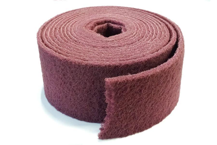 Smirdex Нетканый абразивный материал в рулоне AVF 320 (красный) Премиум, 200мм. х 10м.