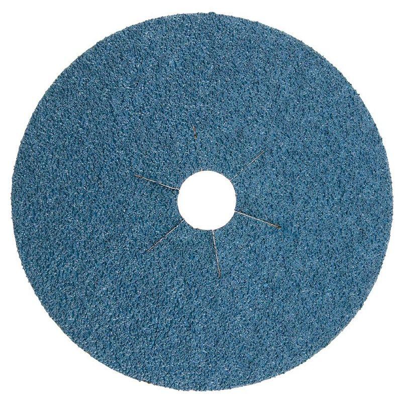 Smirdex Диск фибровый шлифовальный Fiber Discs Zirconia D=125мм., Р100, (упаковка 25 шт.)