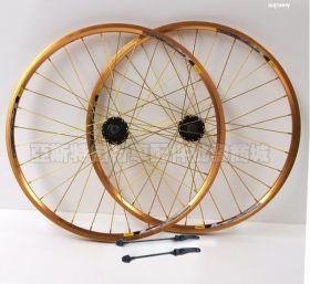 """Комплект колес тюнинговых Золото велосипедных 26"""""""