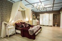 Спальня БАРОККО 3-х дв. шкаф эмаль