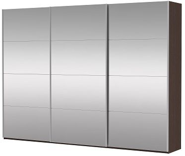 Шкаф-купе трехдверный (3 двери зеркало) | E1 Прайм