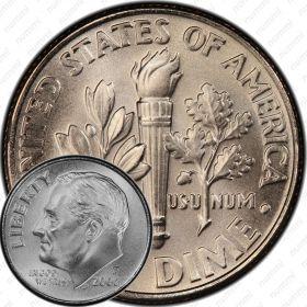 10 центов (дайм) 2006 года D (Регулярный выпуск)