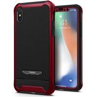 Чехол Spigen Reventon для iPhone X красный металлик