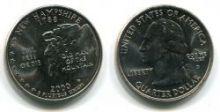Четверть доллара США Нью Гемпшир 2000