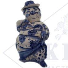 Сувенир Гжель Символ Года 2019 ОПТОМ - Штоф Свинья-Мадам 27x10x10,5 см