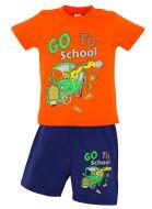 """Комплект для мальчика """"GO TO SCHOOL""""1-4 лет SLN159"""