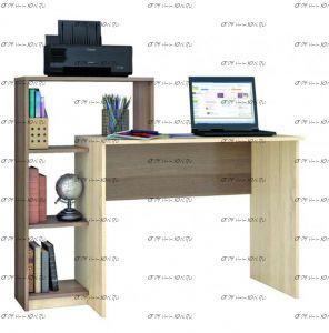 Стол компьютерный Квартет-2 (125х50х102)