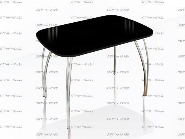 Стол обеденный со стеклом Лотос (60х100)
