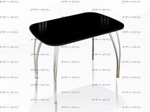Стол обеденный со стеклом Лотос (100/110/120х60/70/80)