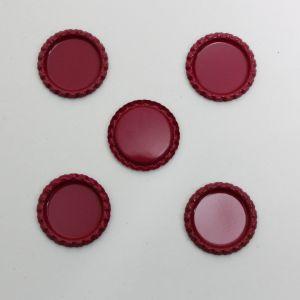 Крышка, металл, Д.вн. 25 мм, Д.наруж. 31 мм, цвет №А16 малиновый (1уп = 24шт)