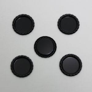 `Крышка, металл, Д.вн. 25 мм, Д.наруж. 31 мм, цвет №А03 черный