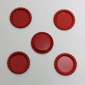 `Крышка, металл, Д.вн. 25 мм, Д.наруж. 31 мм, цвет №А05 красный