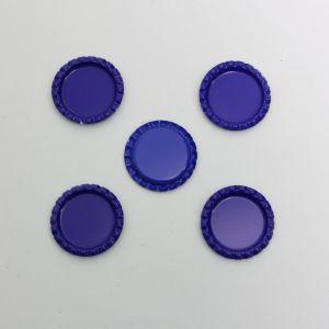 `Крышка, металл, Д.вн. 25 мм, Д.наруж. 31 мм, цвет №А10 синий
