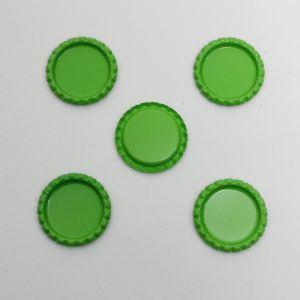`Крышка, металл, Д.вн. 25 мм, Д.наруж. 31 мм, цвет №А11 зеленый