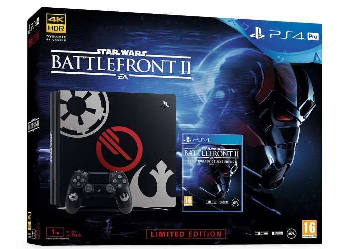 Sony PlayStation 4 Pro 1Tb + Игра Star Wars Battlefront II Limited Edition