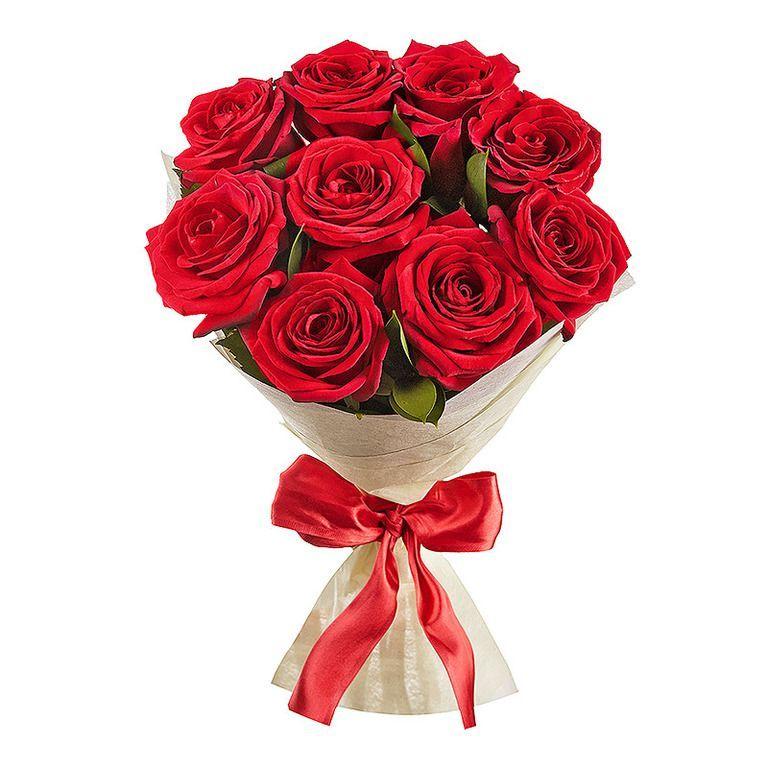 Букет из красных роз 60 см 9 шт «Розы для любимых»