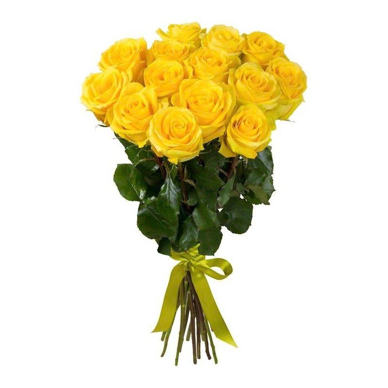 Букет из 15 жёлтых роз «Золотой букет»