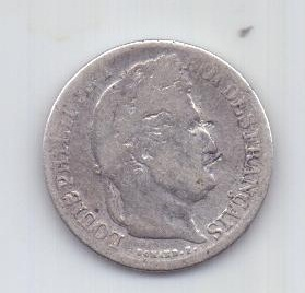 1/2 франка 1833 г. Франция