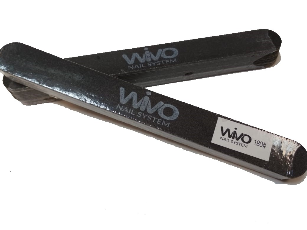 Сменные файлы-пилки WIVO на липкой основе 180 грит  (Чёрный, Корея , 180х20мм., 25 шт.)
