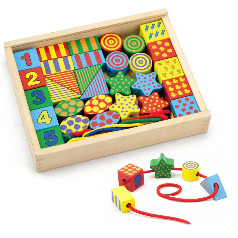 Деревянные фигурки с нитью Viga Toys 58505