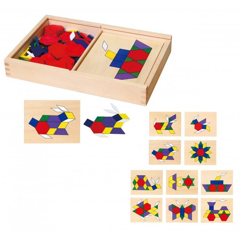 Мозаика геометрическая 158 элем. Viga Toys 50029