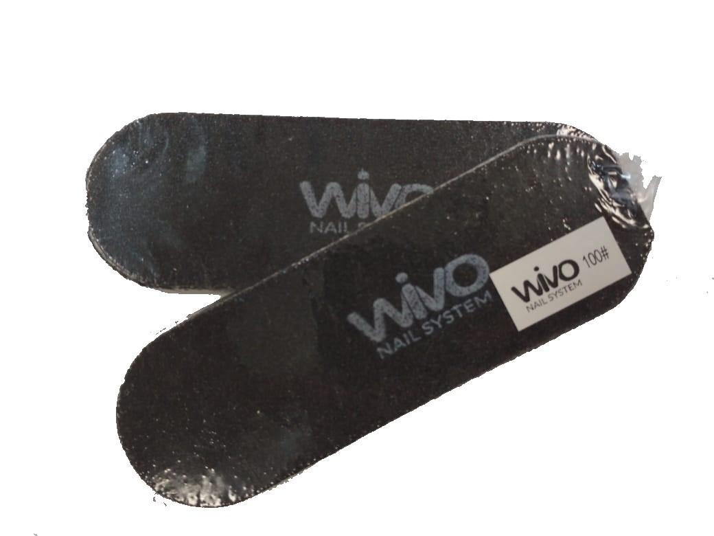 Сменные файлы для педикюра WIVO на липкой основе 100 грит  (Чёрный, Корея , 133х42мм., 10 шт.)