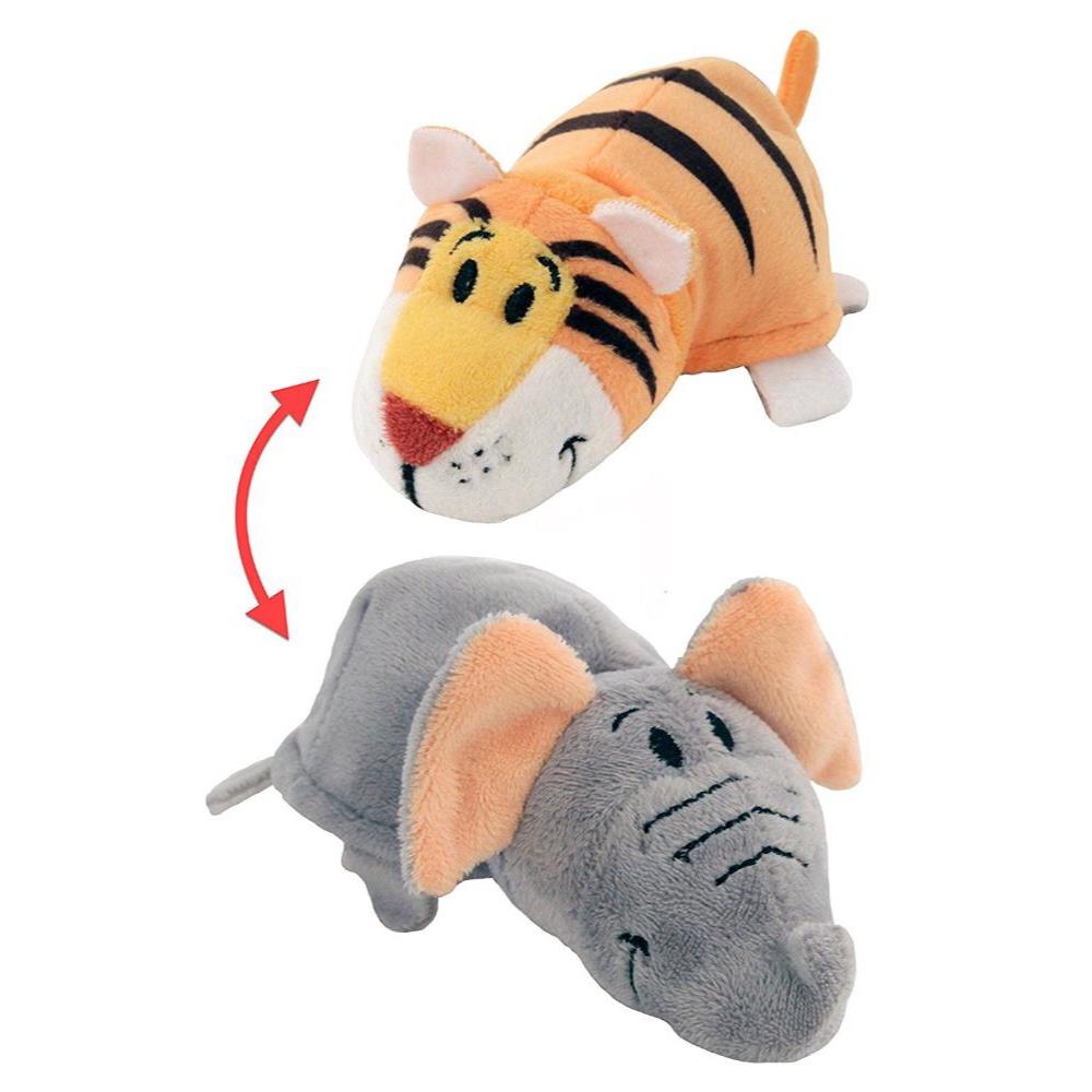 """Мягкая игрушка """"Вывернушка"""" 2 в 1 1 TOY  Слон - Тигр, 12 см"""