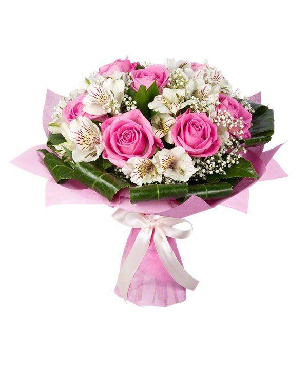 Букет из роз и альстромерии  «Антракт»