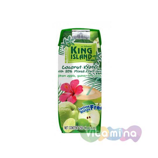 Кокосовая вода с фруктовым соком (лайм, гуава, яблоко)