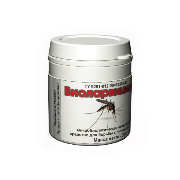 Уничтожитель личинок комаров биологический «Биоларвицид-30»