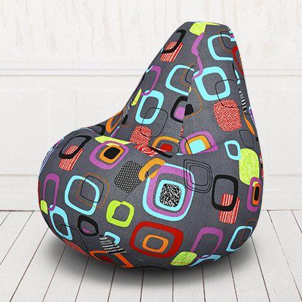 Кресло мешок груша бескаркасное. Жаккард. Мумбо