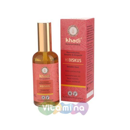 Khadi Масло для лица и тела «Гибискус», 100 мл