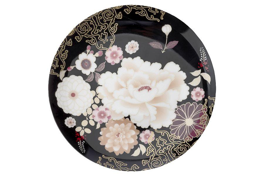 """Тарелка """"Кимоно"""" (чёрный), 20 см, подарочная упаковка"""