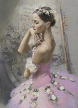 """Почтовая открытка Балерина в розовой пачке. Балет """"Корсар"""""""