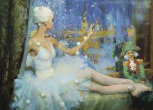 Почтовая открытка Снежинка