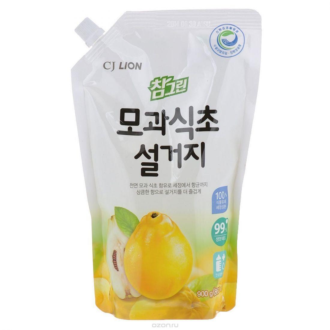 CJ Lion Средство для мытья посуды Chamgreen С айвой, мягкая упаковка, 860 мл