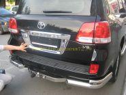 Хромированная накладка под номер для Toyota Land Cruiser 200