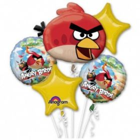 Набор воздушных шариков (5 шт), ANGRY BIRDS